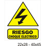 Cartel Atención Riesgo Choque Eléctrico En Alto Impacto