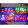 Cartel Led Rosario Open Bar Cafe Pizza 48 X 25