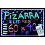 Pizarra Luminosa Led 60 X 40 Rgb + Control Remoto +5 Fibras