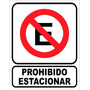 Cartel Prohibido Estacionar 22x28 Para Interperie