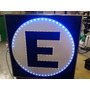 Cartel De Leds Estacionamiento Simple Faz 60x60cm