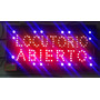 Cartel Led Abierto Locutorio 48 X 25 Chino Grupo Has