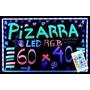 Pizarra Luminosa Led 60 X 40 Rgb + Control Remoto +2 Fibras