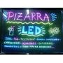 Pizarra Led Luminosa 60 X 40 Rgb + Control Remoto + 8 Fibras