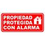 Cartel Propiedad Protegida 14x30 Alto Impacto En Belgrano