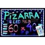Pizarra Luminosa Led 60 X 40 Rgb + Control Remoto +3 Fibras