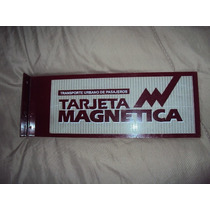 Antiguo Cartel Enlozado Tarjeta Magnetica Transporte
