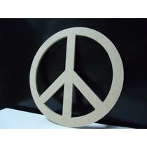 Simbolo De La Paz Fibrofacil Para Pintar 50cm Diametro 3mm