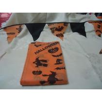 Halloween Lote De Mantel Y Banderines