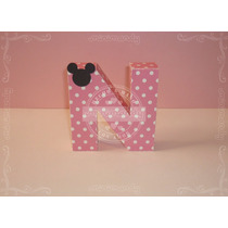 Letras Corpóreas Para Candy Bar Papel 3d Minnie Mouse Bebé