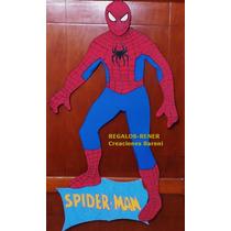 Cartel Con Figura Hombre Araña 90 Cm En Goma Eva