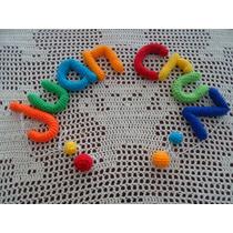 Cartel Bienvenida Movil Con Nombre De Bebe Tejido Al Crochet
