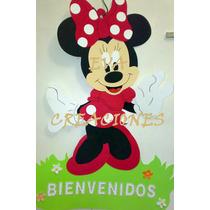 Cartel De Minnie - Mickey Y Sus Amigos En Goma Eva