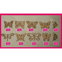 Figuras De Mariposas Fibrofacil Corte Laser