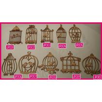 Jaula De Pajaritos Decorativas Fibrofacil Souvenir