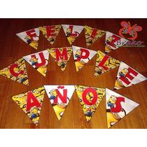 Souvenirs - Banderín Feliz Cumpleaños - Minions - Y Más