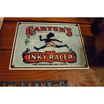 Cartel Chapa Enlozado Publicidad Carter