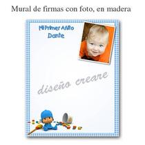 Cartel Mural De Firmas Bautismo Primer Añito Con La Foto