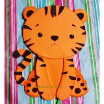 Animales De La Selva. Pack X 6 Figuras. En Goma Eva 20 Cm