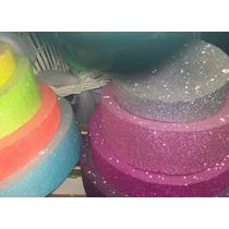 Torta Telgopor Gibreada Fluo - Ideal Cotillón, Candy Bar