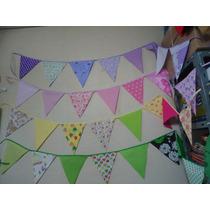 Banderines De Tela Doble 5 Banderines X Metro
