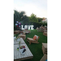 Alquiler Letras Love Casamiento 1,20 M Gigantes Shabby Chic