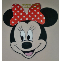 Carteles Pared Minnie X 2 En Goma Eva. Regalos Rener