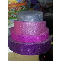 Torta Telgopor Gibreada Metalizada Ideal Cotillón, Candy Bar