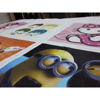 Impresión Cuerina Ecocuero Fundas Almohadones Tela Canvas