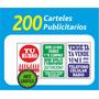 Super Ofertón!!!!!! Pack De 200 Carteles Para Postes!!!