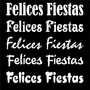 Ploteado Frase Felices Fiestas