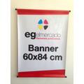 Banner 60x84cm En Lona Front Brillante Con Caños.