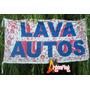 Bandera Lava Autos * 150 X 75cm * Cartel Publicidad Negocio