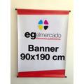 90x190 Cm Banner Lona Front Con Caños