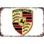 Carteles Antiguos De Chapa Gruesa 60x40cm Porsche Au-377