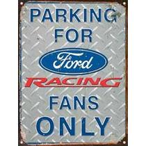 Cartel De Chapa Publicidad Antigua Logo Ford A003