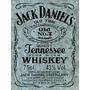 Cartel De Chapa Galvanizada Whisky Jack Daniels