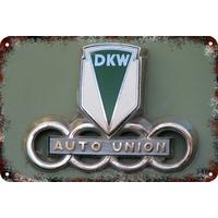 Carteles Antiguos Chapa Gruesa 60x40cm Auto Union Dkw Au-591