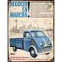 Cartel De Chapa Publicidad Antigua Auto Union Pick Up Y283