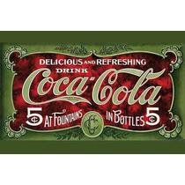 Carteles Antiguos De Chapa Gruesa 60x40cm Coca Cola Dr-362