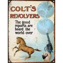 Cartel De Chapa Publicidad Antigua Colt Z601