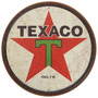 Carteles Antiguos Chapa Gruesa 40cm Texaco Gasoline Pe-007