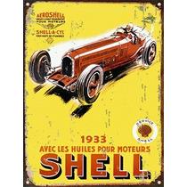 Cartel De Chapa Publicidad Antigua Shell No Vinilo