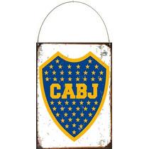 Cartel De Chapa Escudo Boca X132