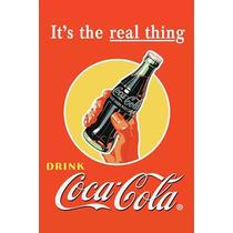 Carteles Antiguos De Chapa Gruesa 60x40cm Coca Cola Dr-364
