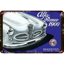 Carteles Antiguos De Chapa Gruesa 60x40cm Alfa Romeo Au-417