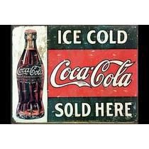Carteles Antiguos Chapa Gruesa 60x40cm Coca Cola Dr-011