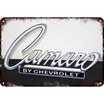 Carteles Antiguos Chapa 60x40cm Chevrolet Camaro Au-124