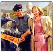 Carteles Antiguos En Chapa Gruesa 30x45cm Coca Cola Dr-355