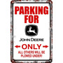 Carteles Antiguos Chapa 60x40 Parking Only John Deere Pa-71